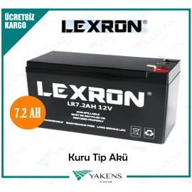 Lexron 7.2 AH 12V Kuru Akü