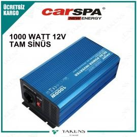 1000 Watt 12V Tam Sinüs İnverter Carspa