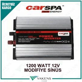 1200 Watt 12V Modifiye Sinüs İnverter Carspa