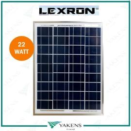 22 Watt 12V Polikristal Güneş Paneli Lexron