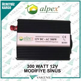 300 Watt 12V Modifiye Sinüs İnverter Alpex