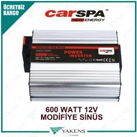 600 Watt 12V Modifiye Sinüs İnverter Carspa