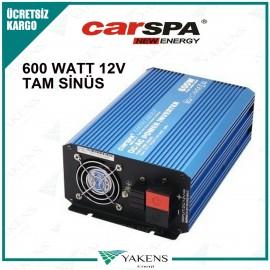 600 Watt 12V Tam Sinüs İnverter Carspa