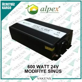600 Watt 24V Modifiye Sinüs İnverter Alpex