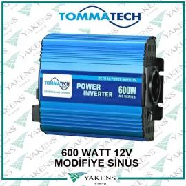 600W 12V Modifiye Sinüs İnverter Tommatech
