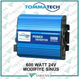 600W 24V Modifiye Sinüs İnverter Tommatech