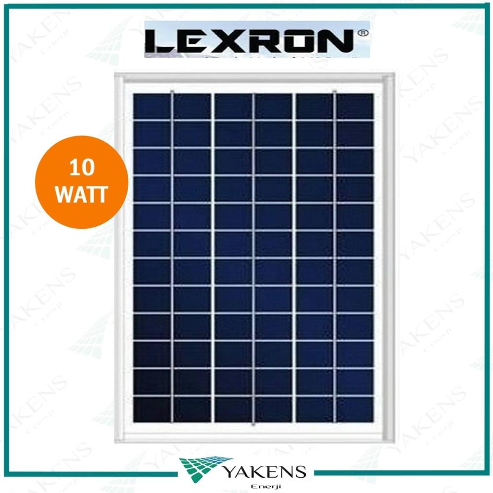 10 Watt 12V Polikristal Güneş Paneli Lexron