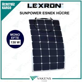 130 Watt Efte Esnek Güneş Paneli Lexron