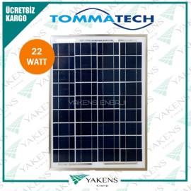 22 Watt Polikristal Güneş Paneli Tommatech