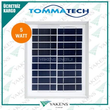 5 Watt 12V Polikristal Güneş Paneli Tommatech